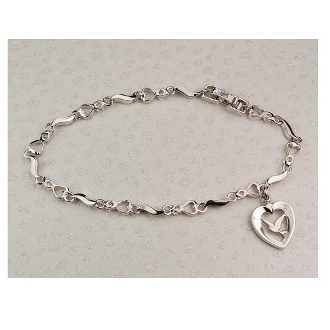 Cubic Zirconia Bracelet with Holy Spirit Medal
