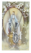 Miraculous Medal and Prayer Card Set