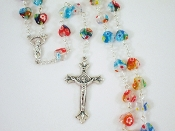 Multi-colored Murano-style Glass Rosary