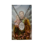 Saint Joseph Medal and Prayer Card Set