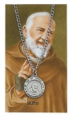 Saint Pio Medal and Prayer Card Set