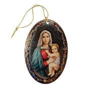 Mary and Baby Jesus Christmas Ornament
