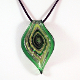 Dublin Green Glass Pendant on Satin Cord Necklace