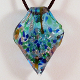 Tortola Waters Glass Pendant on Satin Cord