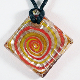 Cancun Sunset Glass Pendant on Satin Cord