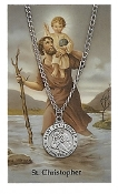 Saint Christopher Medal and Prayer Card Set