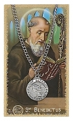 Saint Benedict Medal and Prayer Card Set