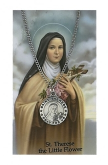 Saint Therese Medal and Prayer Card Set
