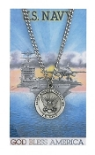U.S. Navy Prayer Card Set with Saint Michael Medal