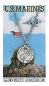 U.S. Marines Prayer Card Set with Saint Michael Medal