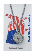 U.S. National Guard Prayer Card Set with Saint Michael Medal