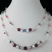 Swarovski Crystal Kaldeidoscope Double Strand Necklace, 18 inch
