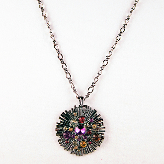 Midnight Sun Pendant Necklace, 20 inches and 24 inches