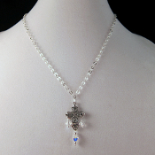 Tanner's Sterling Silver Cross Pendant with Swaroski Crystals