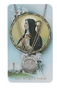 Saint Brigid Medal and Prayer Card Set