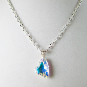 """Crystal"" Swarovski Devoted 2 U Heart Necklace"