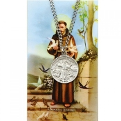 Saint Francis Pendant and Prayer Card Set