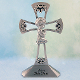 Pewter Standing Cross for Baby Boy, 4 inches