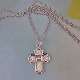 First Communion Sterling Silver 4-Way Saint and Chalice Medal