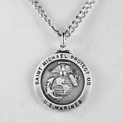 U.S. Marines St. Michael Saint Medal on a 24 inch Neck Chain