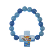 Child's Noah's Ark Wood Stretch Bracelet
