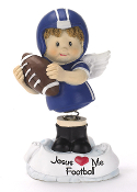Football Angel Figurine