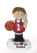 Basketball Angel Figurine