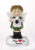 Soccer Angel Figurine