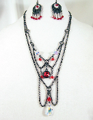 Victorian Sassy Styled Swarovski Necklace and Earrings Set