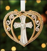 Cross Heart Ornament