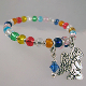 Multi Color Glass Bead Guardian Angel Wrap Bracelet