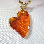 """Astra"" Swarovski Crystal Heart on Gold-plated Necklace"