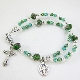 Green Crystal Rosary Bracelet with Magnetic Clasp