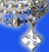 Rosary Bracelet with Sterling Silver Maltese Cross