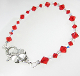 Swarovski Red Crystal Bracelet with Pewter Flower Clasp